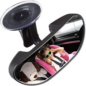 Baby Car Backseat Mirror, Rear View Facing Back Seat Mirror Child Safety Rearview Adjustable Rearview Wide Angle Conv...
