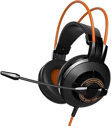 EasyAcc Cuffie da Gioco Gaming Headphone con Microfono Stereo Bass Ridurre il Rumore Regolatore di Volume-Nero Arancione - Trova i prezzi più bassi