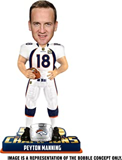 FOCO NFL Denver Broncos Peyton Manning #18 Super Bowl 50 Champions Bobble Head Toy, One Size, White