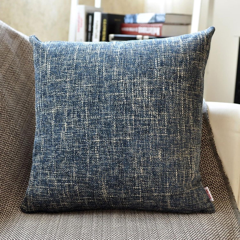 JIANHEADS Coussin de canapé coussins oreiller lombaire de rideau de lit de bureau Coussin d'oreiller (Couleur   2, Taille   55  55cm)