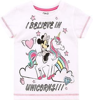 Disney Camiseta de Manga Corta para niñas Minnie Mouse Unicornio