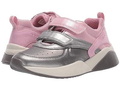 Geox Kids Jr Sinead 1 (Little Kid/Big Kid) (Pink/Silver) Girls Shoes