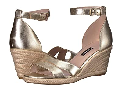 Nine West Jabrina Espadrille Wedge Sandal (Light Gold) Women