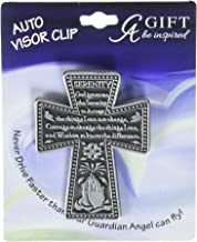 Cathedral Art KVC173 Auto Visor Clip, Serenity Cross, 2-3/8-Inch