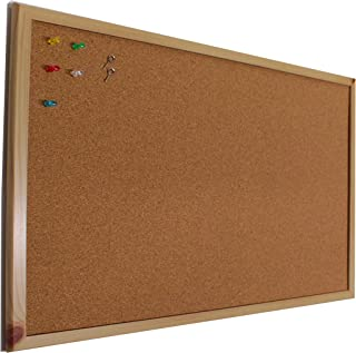 Chely Intermarket Tablero de corcho pared 90x60 cm con marco