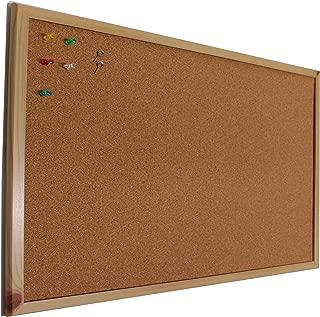 Chely Intermarket Tablero de corcho pared 90x60 cm con marco