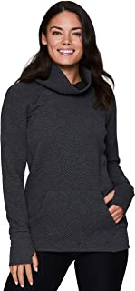 RBX Active Women's Ultra-Soft Quilted Cowl Neck Pullover