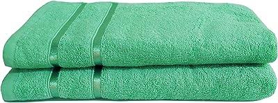 Highlife Bath Towels, Set of 2- Green