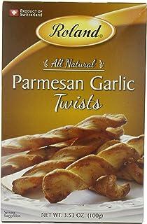 Roland Twists, Parmesan Garlic, 3.53 Ounce