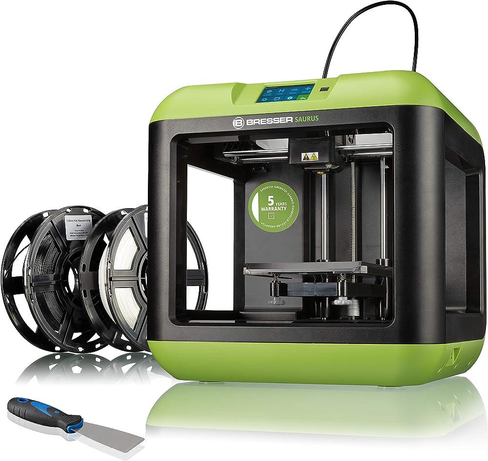 stampante 3d Bresser saurus, con wi-fi, e filamento con alloggiamento aperto per pla 2010300