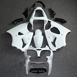 ZXMOTO Unpainted Fairing Kit for Kawasaki Ninja ZX6R 636 2000 2001 2002, Fits ZX600E ZX600J ZZR600 2005 2006 2007 2008