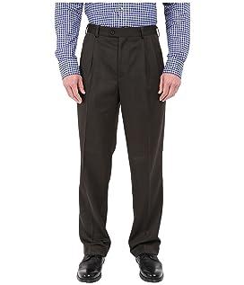 Classic Fit Double Pleat Micro-Melange Pant