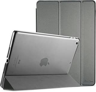 ProCase iPad 9.7 Case 2018 iPad 6th Generation Case / 2017 iPad 5th Generation Case - Ultra Slim Lightweight Stand Case with Translucent Frosted Back Smart Cover for Apple iPad 9.7 Inch –Metallic