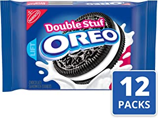 Oreo Double Stuf Chocolate Sandwich Cookies, 15.35 Ounce (Pack of 12)