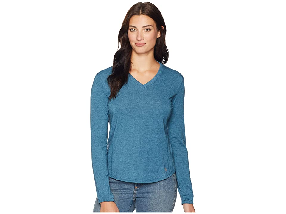 Carhartt Force Ferndale Long Sleeve T-Shirt (Dark Slate Heather) Women's Clothing