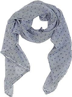 ccf63405bff1f3 Zwillingsherz Seiden-Tuch mit Anker-Print - Hochwertiger Schal für Damen  Mädchen - Halstuch