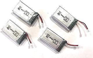 YUNIQUE Espagne ® 4 Piezas Batería Recargable de Litio, 802540 3.7V 1000mAh Batería con Placa Protectora para WiFi Junta de Desarrollo ESP32 para Arduino Nodemcu