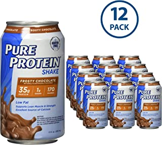 Pure Protein Ready to Drink Shakes, High Protein Frosty Chocolate, 11oz, 12 count