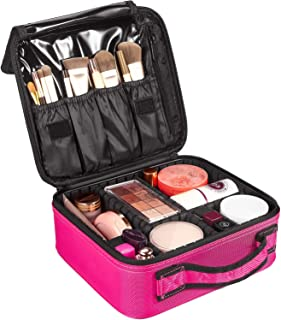 52849e5a9530 Travel Makeup Train Case, SOLOFISH Travel Cosmetic Bags Professional Large Make  Up Bag for Women