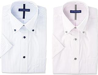 [スティングロード] 半袖ワイシャツ 2枚セット 形態安定 ボタンダウン デザインシャツ レギュラーフィット ノーアイロン ST900-2P メンズ