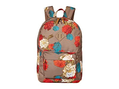 Herschel Supply Co. Heritage (Vintage Floral Pine Bark) Backpack Bags