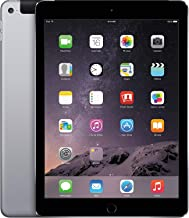 Apple iPad Air 2 MH2M2LLA_Space_Gray 9.7in Cellular Unlocked (GSM) + WiFi 64GB iPad- Tablet (Renewed)