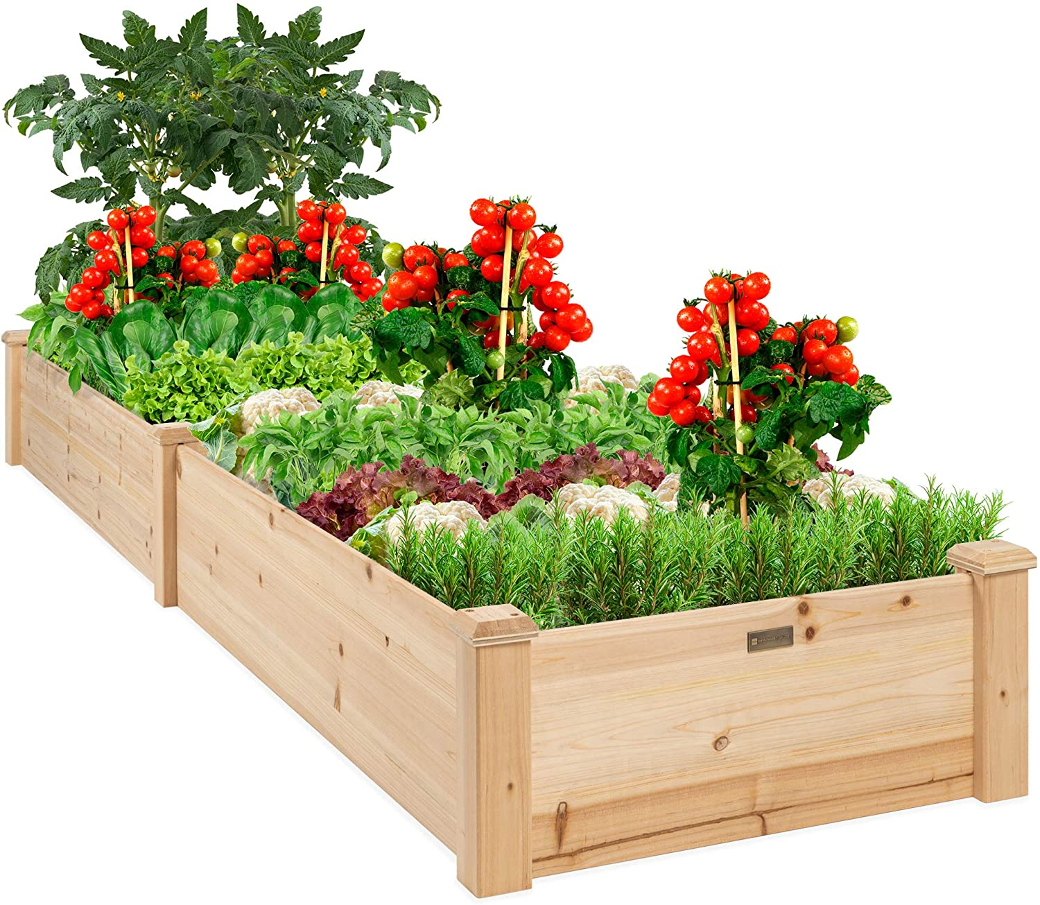 Best Choice Products Max 74% OFF 96x24x10in Outdoor Selling and selling Raised Bed Garden Wooden