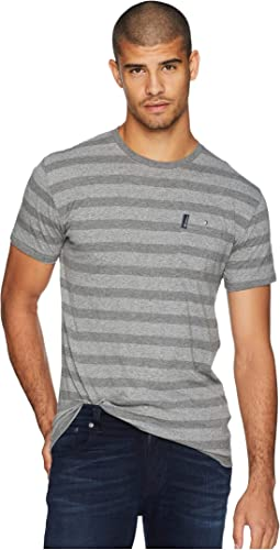 Heathered Stripe Pocket Tee