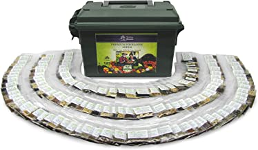 125 Variety XP Heirloom Seed Vault - Premium 100% Non GMO, Non Hybrid, Heirloom Seeds - Packaged for Maximum Shelf Life Storage - Heirloom Vegetable, Herb, and Fruit Seeds.!