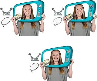Beistle 54917 50's TV Photo Fun Frames 3 Piece, 15.75