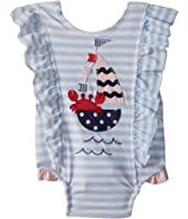 Sail Away Ruffle One-Piece Swimsuit (Infant)
