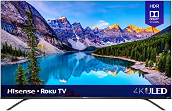 Hisense 65-Inch Class R8 Series Dolby Vision & Atmos 4K ULED Roku Smart TV with Alexa Compatibility and Voice Remote (65R8...
