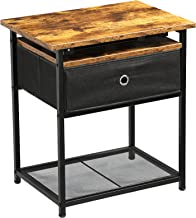 Nightstand/End Table with Drawer, K Knowbody Side Table for Living Room and Bedroom, Night Stand End Table with Steel Fram...
