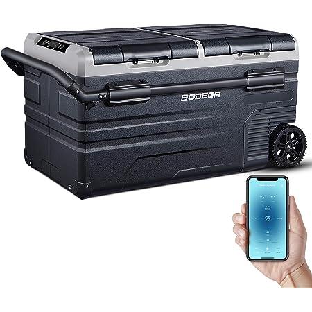 BODEGA 12 Volt Refrigerator Portable Freezer Car Fridge Dual Zone APP Control 80 Quart(75L, -4℉-68℉ RV Electric Compressor Cooler for Outdoor, Vehicles, Camping, Travel,12/24V DC and 100-240V AC