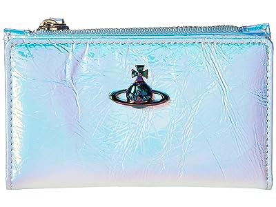 Vivienne Westwood Archive Orb Slim Flap Card Wallet (Pink) Handbags