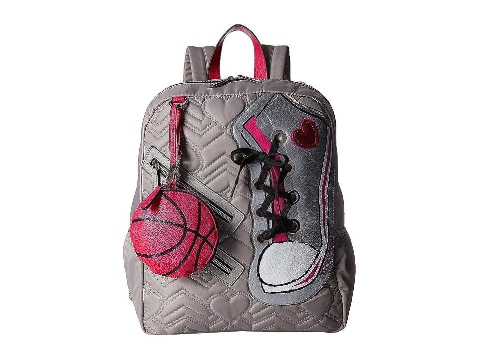 Betsey Johnson Sneaker Backpack (Grey) Backpack Bags