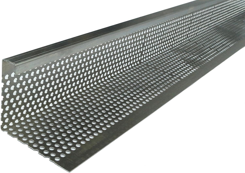 Kiesfangleiste 20 x 20 Abschlussprofil Gartenbau 20cm Stärke 20,20 mm  Silber   Abschlussleiste, Lochblech, Schüttgut optimiert, Aluminium Profil,  ...
