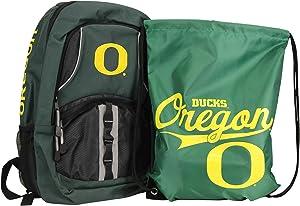 NCAA Padded Utility Laptop Backpack and Drawstring Bag Set, Book Bag & Cinch Combo