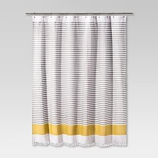 Dyed Shower Curtain Stripe Summer Wheat 100% Cotton 72