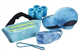 Chosen Falcon Slim Running Belt Waist Pack Sport Cap Adjustable Size Yoga Sport Headband Sweatband Bandana Elastic Mini Headband No Slip Grip Hair Band 4 Cotton Sweat Absorbing Wristband