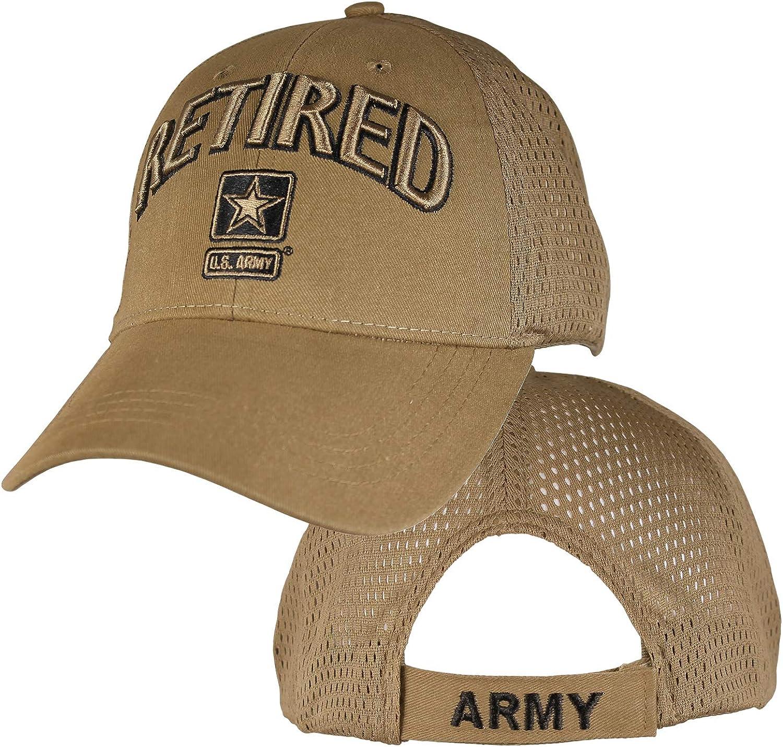 EAGLE CREST U.S. Army Retired Coyote Brown Mesh Baseball Hat