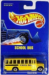Hot Wheels School Bus #72 All Blue Card All Basic Wheels by Hot Wheels