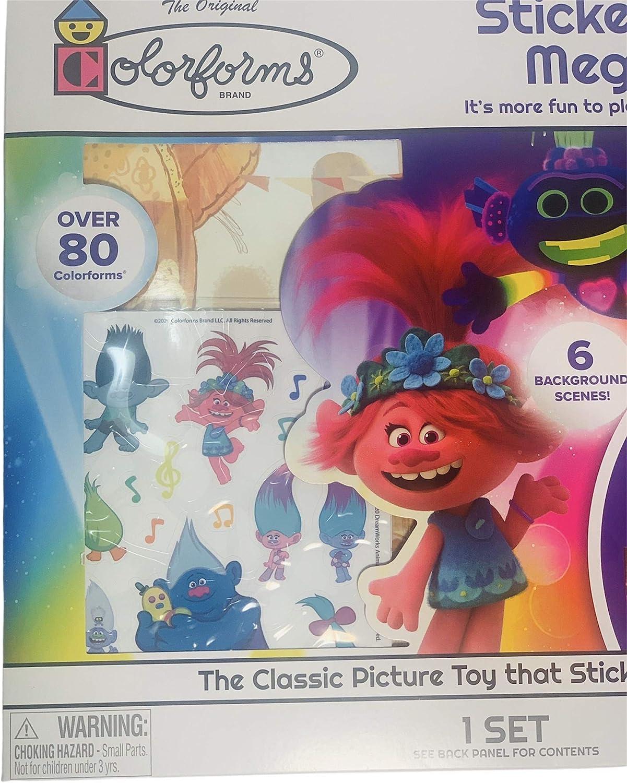 Disney Princess and Jurassic Park Peachtree Plaything Colorforms Sticker Story Mega Set Mickey Mouse Trolls World Tour Jurassic World