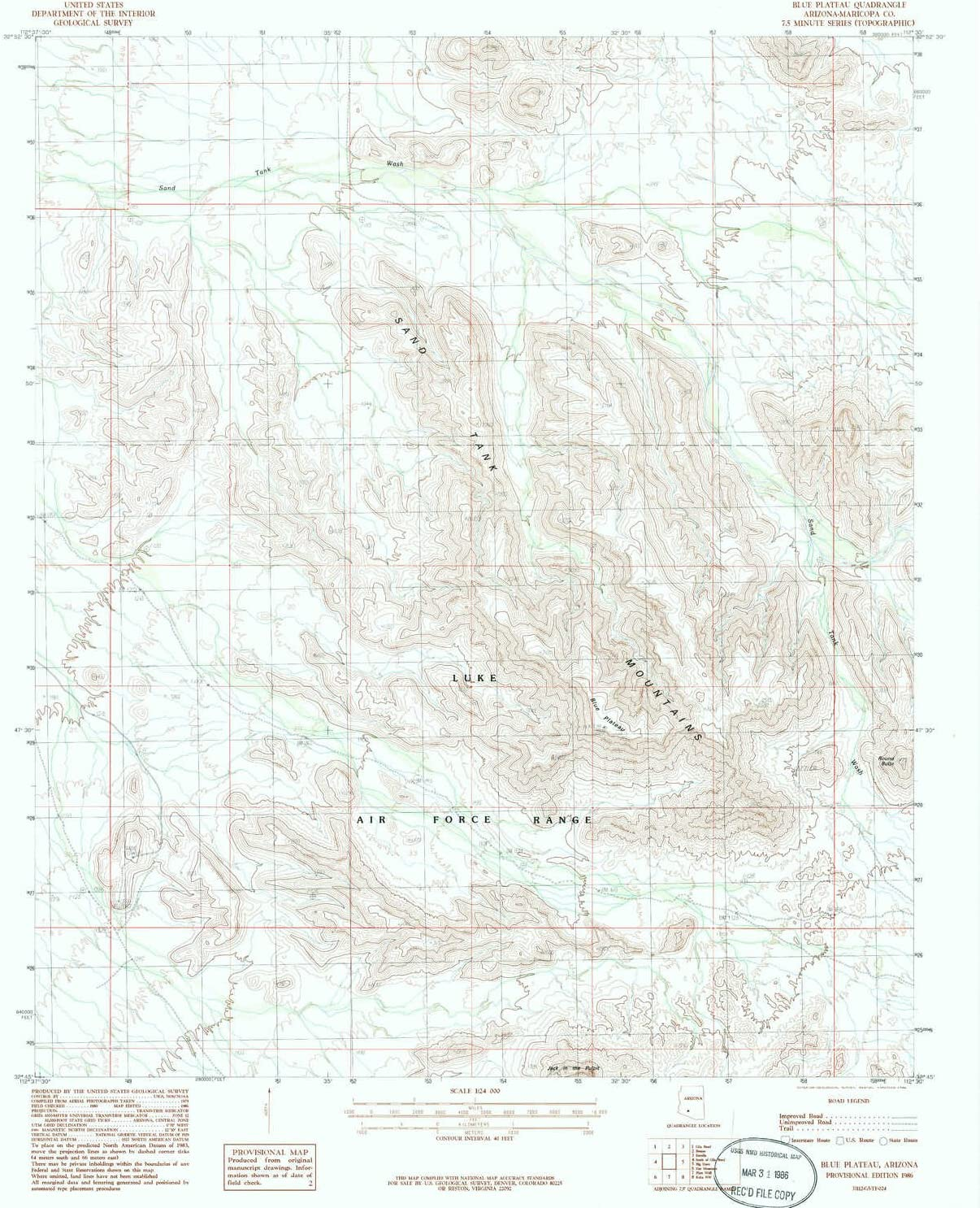 YellowMaps Blue Plateau AZ topo Overseas parallel import regular item map Max 48% OFF Scale Mi 7.5 1:24000 X