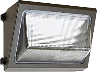 120W LED Wall Pack, Daylight 5000K with Glass Lens, 12000 LM, 400W HID Replacement, 120-277V, Bright Commercial Outdoor Security Lighting