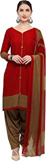 Rajnandini Maroon Crepe Salwar Suit For Women (Ready To Wear)(One Size)