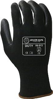 Armor Guys 06-012 (XL) 1 Duty, 13 g, Nylon Liner, Polyurethane Palm Coated (One Pair), XL, Black
