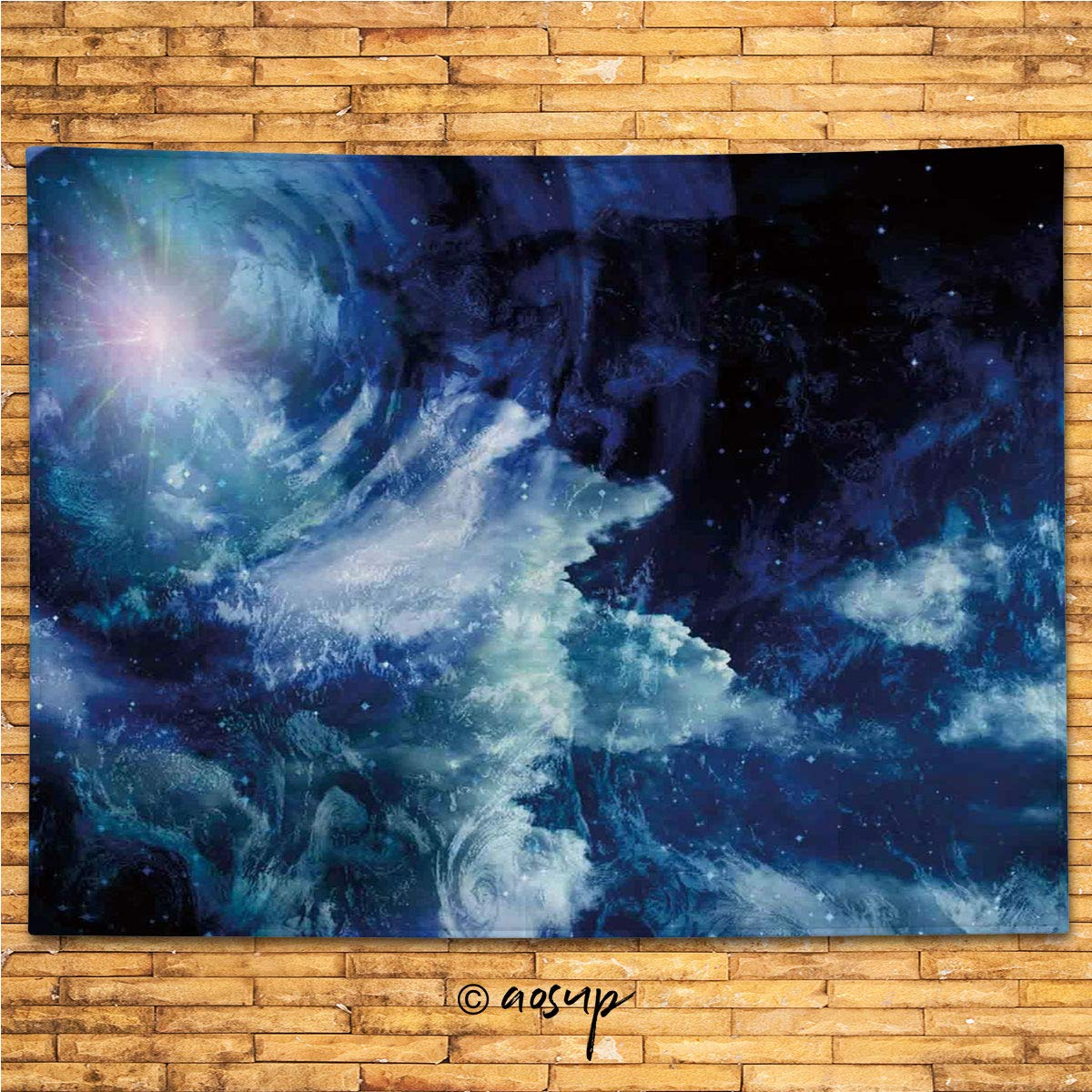 Supfeng 10148 Tapestry Space Nebula Gas Cloud On Celestial Sphere Universe Themed Design Galaxy Art Print Dark Blue Wide Wall Hanging For Bedroom Living Room Dorm 80 X 60 Buy Online In