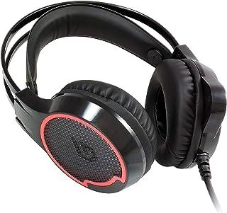 Conceptronic ATHAN01B - Auriculares de PC, Color Negro y Rojo