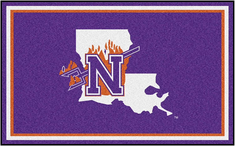 Northwestern State University Popular overseas 4ft. x Ranking TOP8 6ft. Area Rug Plush